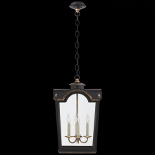 Visual Comfort RL 5710OBT-CG - Brinkley Small Lantern in Old Black Tole with Cl