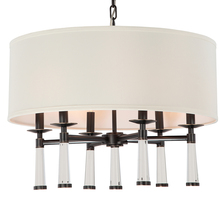 Crystorama 8866-OR - Crystorama Baxter 6 Light Oil Rubbed Bronze Chandelier