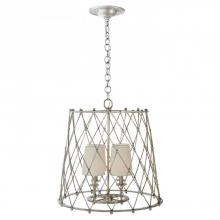 Visual Comfort ARN 5210BSL-L - Edgerly Hanging Shade in Burnished Silver Leaf w