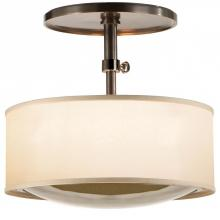 Visual Comfort BBL 5024BZ-S - Reflection Semi-Flush Pendant in Bronze with Sil