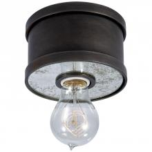 Visual Comfort RL 4130AI - Roark Small Flush Mount in Aged Iron with Antiqu