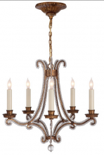 Visual Comfort CHC 1559GI-CG - Oslo Mini Chandelier in Gilded Iron and Crystal