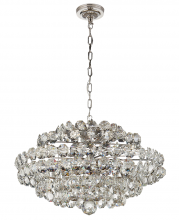 Visual Comfort ARN 5105PN-CG - Sanger Small Chandelier in Polished Nickel with