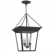 Visual Comfort SL 5871BR - Cornice Small Hanging Lantern in Blackened Rust