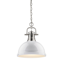 Golden 3602-L PW-WH - 1 Light Pendant with Chain