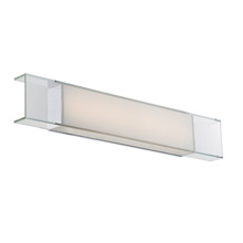 WAC US Modern Forms WS-3428-CH - CLOUD 28IN VANITY/SCONCE 3000K